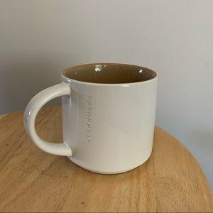 Starbucks 2013 White & Tan Mug